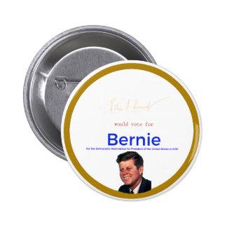 JFK for Bernie Sanders 2 Inch Round Button