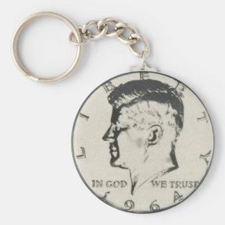JFK Half Dollar key ring