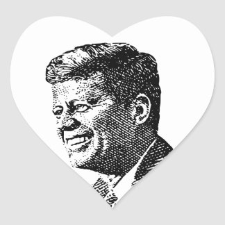 JFK - Heart Shaped Stickers