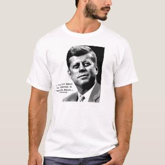 JFK Hope Poster (Black/White) Famous JFK Quote T-Shirt