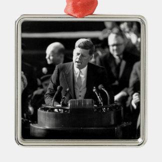JFK Inauguaration Metal Ornament