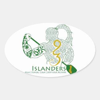 JFK Islanders 93 Reunion Gear Oval Sticker
