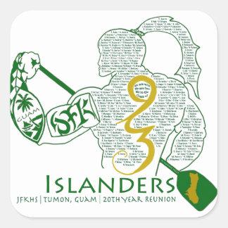 JFK Islanders 93 Reunion Gear Square Sticker