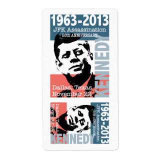 JFK Kennedy Assassination Anniversary 1963 - 2013 Custom Shipping Label