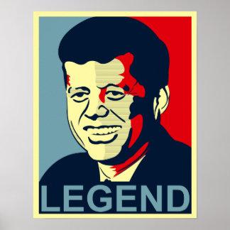 jfk legend poster