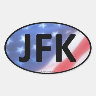 JFK Oval Sticker