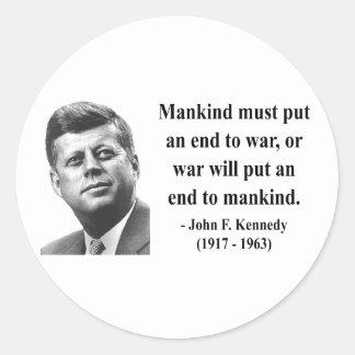 JFK Quote 1b Round Sticker