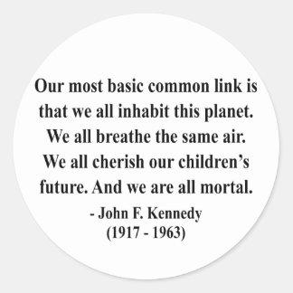 JFK Quote 2a Round Sticker