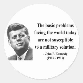 JFK Quote 6b Classic Round Sticker