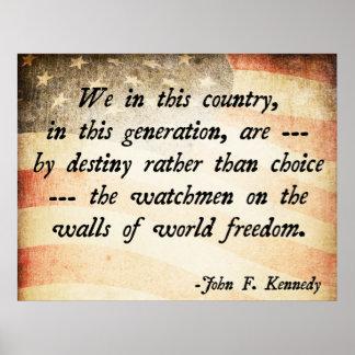 JFK Quote Poster