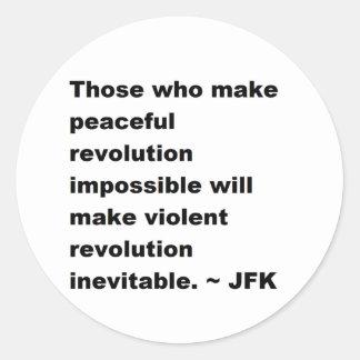 JFK Quote Round Sticker