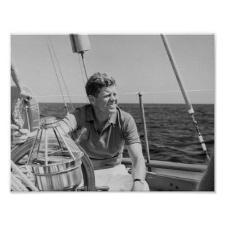 JFK Sailing On Vacation Poster