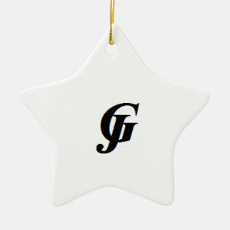 JG CERAMIC STAR ORNAMENT