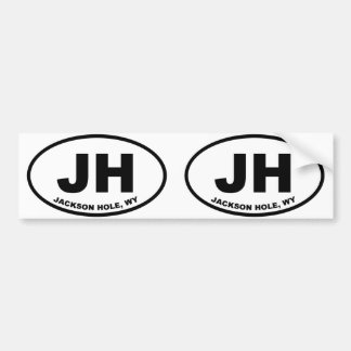 JH Jackson Hole Wyoming Bumper Sticker