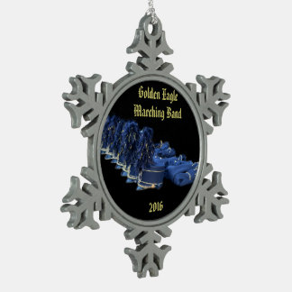 JHS  band 2016 Snowflake Pewter Christmas Ornament