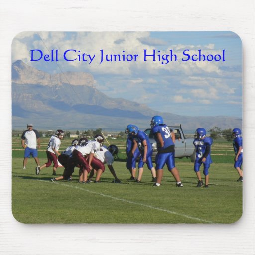 JHS FBall game, Dell City Junior High School Mouse Mats