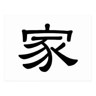 Jia / Chinese Symbol Home Postcard