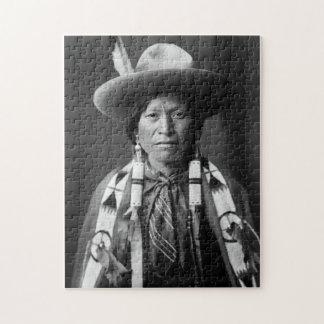 Jicarilla Apache Cowboy - Edward S. Curtis 1905 Jigsaw Puzzle