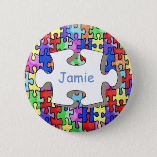 Jigsaw 2 Inch Round Button
