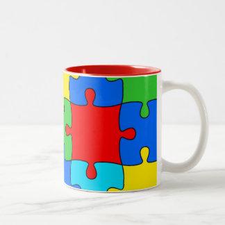 jigsaw-313586  jigsaw puzzle jigsaw piece part puz Two-Tone coffee mug