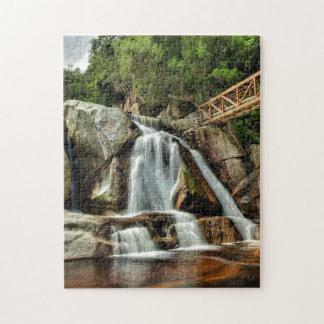 Jigsaw  Africa  Waterfall  Orange Water. Jigsaw Puzzle