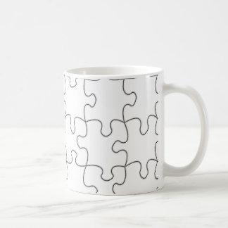 Jigsaw Mug Template