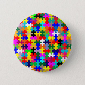 Jigsaw Pieces In Colour 2 Inch Round Button