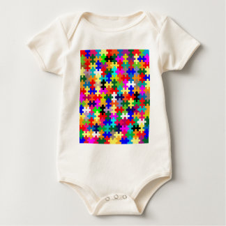 Jigsaw Pieces In Colour Baby Bodysuit