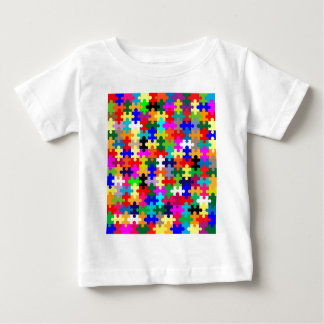Jigsaw Pieces In Colour Baby T-Shirt