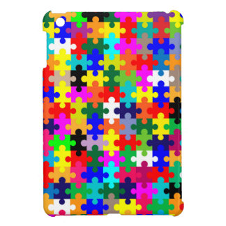 Jigsaw Pieces In Colour iPad Mini Cover