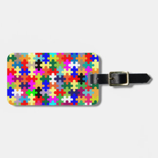 Jigsaw Pieces In Colour Luggage Tag