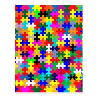 Jigsaw Pieces In Colour Postcard