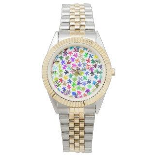 Jigsaw Pieces Two Toned Wrist Watch
