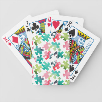 Jigsaw Puzzel Watercolour Pattern Poker Deck