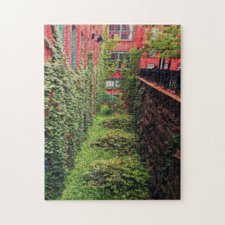 Jigsaw Puzzle - Brick & Ivy Scene - Full Color