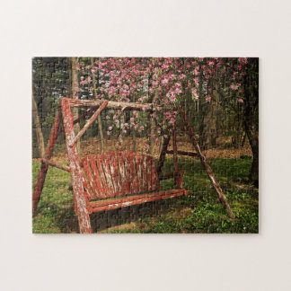 Jigsaw Puzzle - Country Wooden Swing - Full Color