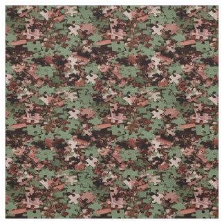 Jigsaw Puzzle Novelty Fabric