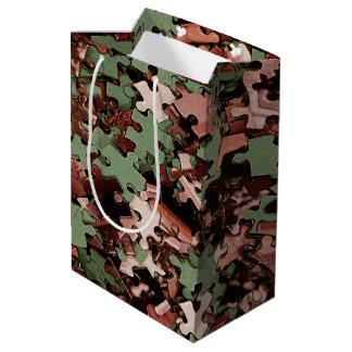 Jigsaw Puzzle Novelty Medium Gift Bag