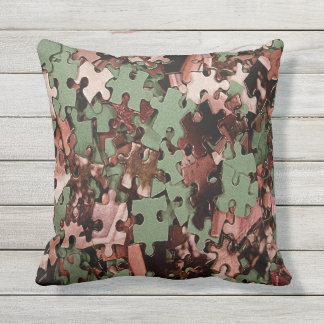 Jigsaw Puzzle Novelty Throw Pillow