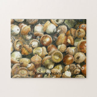 Jigsaw Puzzle of a field of fallen Acorns