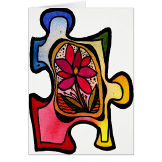 Jigsaw Puzzle Piece 11 Card