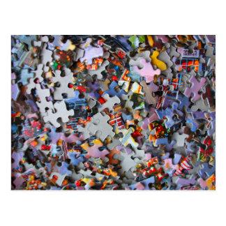 Jigsaw Puzzle Pieces Postcard