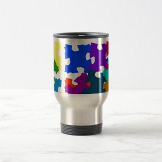Jigsaw Puzzle Pieces Travel Mug