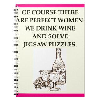 jigsaw puzzles spiral notebook