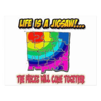 jigsaw shirt postcard