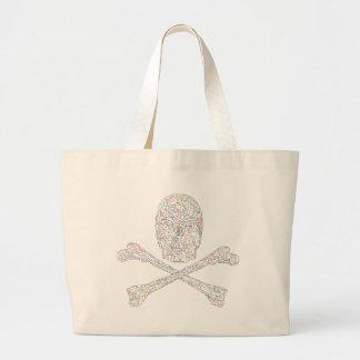 Jigsaw Skull & Crossbones - Color Large Tote Bag