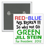 Jill Stein for President 2012 Green Party 2 Inch Square Button