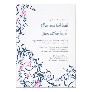 Jillian Blue and Pink Invitation
