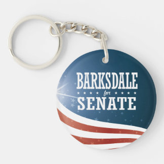 Jim Barksdale 2016 Single-Sided Round Acrylic Keychain