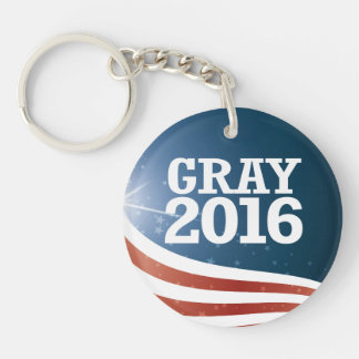 Jim Gray 2016 Single-Sided Round Acrylic Keychain